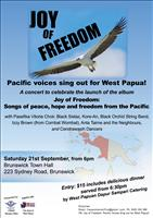CONCERT Joy of Freedom: Pacific voices sing out for West Papua!