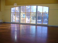 Inside Pascoe Vale Neighourhood Facility hall