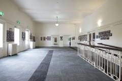 photographs on dispaly in coburg town hall foyer