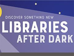Libraries after dark illustration