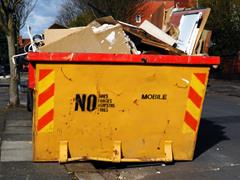 Full Yellow Skip in Binnon Street