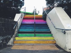 coloured steps