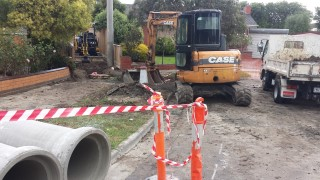 Callander Road Pascoe Vale Drainage Improvement Works Stage1  During construction Works