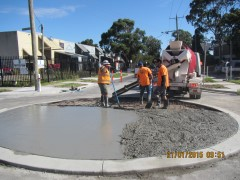 Charles and Dawson Streets, North Coburg - Roundabout During Construction 2