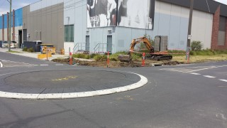 Charles & Dawson Streets, North Coburg - Roundabout During Construction