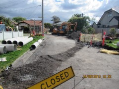 McGrego Drainage Works during construction