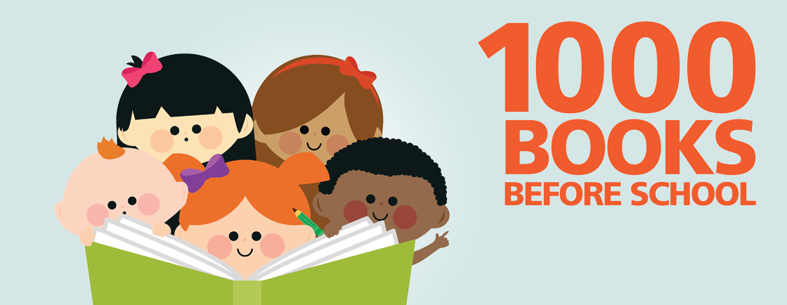 1000 Books before school banner