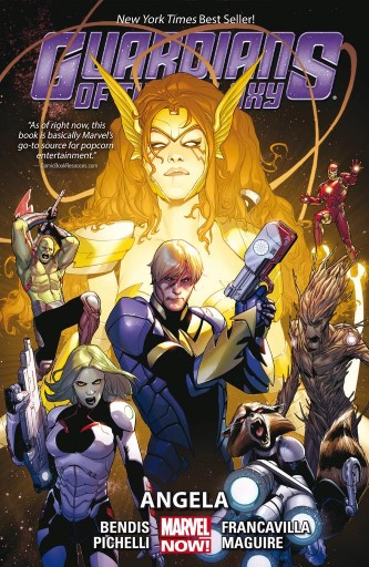 Front cover of Guardians of the galaxy graphic novel