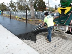 City Oval construction work