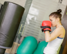 Image of woman boxing.
