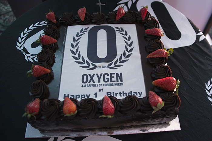 Happy first birthday cake for Oxygen
