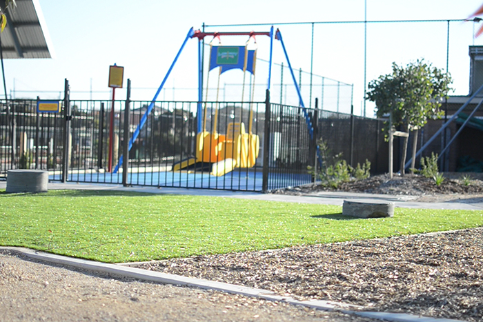 Swing for children in a wheelchair at Bush Reserve