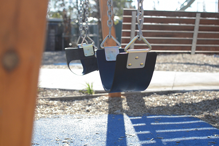 Swings at Bush Reserve playground