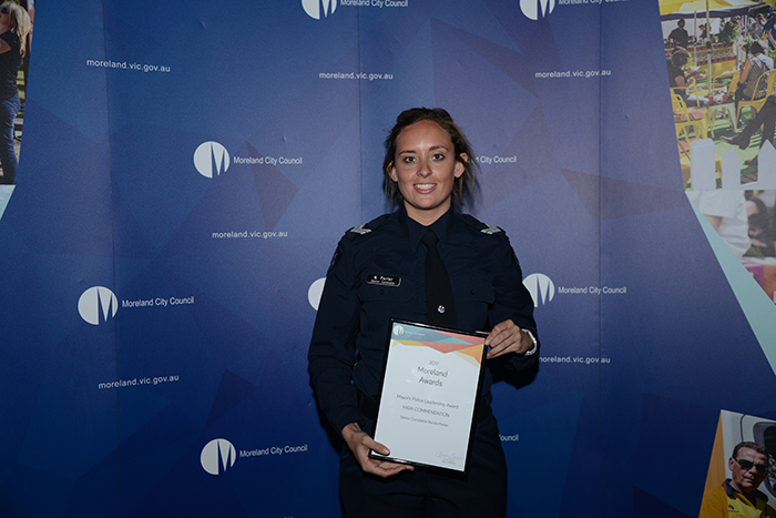 Mayor's Police Leadership Award - High Commendation - Senior Constable Nicole Porter