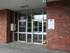 Coburg Library Meeting Room door entry