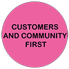 Values customers and community first icon