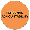 Values personal accountability icon